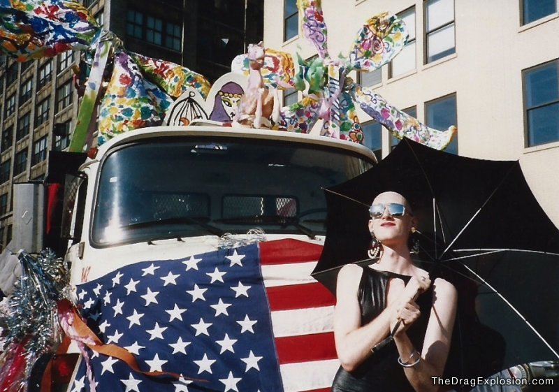 Dean Johnson at LGBT Pride Parade. (1987)